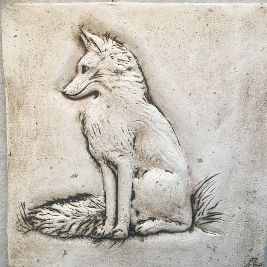 Art Tile Fox Handmade Ceramic Tile Made In Ireland